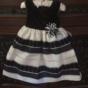 Other - Marmellata Toddler Black & White Formal Dress NWT